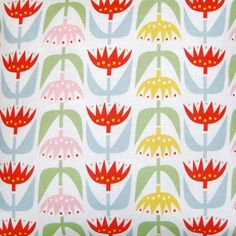 Klippan Pastel Tulip Linen & Cotton Fabric