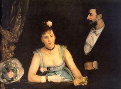 Eva Gonzales (French Artist, 1849-1883). A loge dans le Theatre des Italiens, 1874).