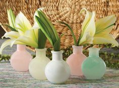 Versatile as wedding reception decor or as bud vases for wedding favors, these Milky Glass Favor Bud Vases come in a multitude of colors for a real wow factor. Unique Wedding Favors, Wedding Reception Decorations, Unique Weddings, Wedding Ideas, Wedding Mint Green, Tiffany Wedding, Bud Vases, Wedding Colors, Glass Vase