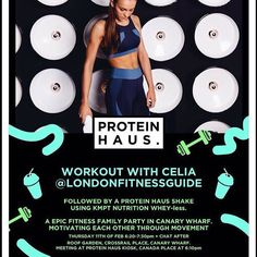 SPECIAL EVENT  I'm going back to back with @londonfitnessguide and MRS @kmptfitness the @theldnyogi to bring you THE ULTIMATE SWEAT SESSION! A heated HIIT session and a yoga style cool down  Followed by @kmptnutrition post work out shakes made by @proteinhausuk  WHEN? 11th Feb 6.20-7.20pm.  social.  HOW MUCH? 10.00  Meeting point: PROTEIN HAUS Canada place Canary Wharf.  Event: Roof Garden Crossrail place Canary Wharf  BOOK NOW! Purchase your ticket from PROTEIN HAUS put your name on the…