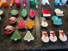 Sugar Cookie Icing, Sugar Cake, Christmas Sugar Cookies, Holiday Cookies, Christmas Baking, Fun Cookies, Cupcake Cookies, Decorated Cookies, Cupcakes