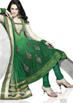 Ethinc Wedding Bollywood Green Shalwar Kameez