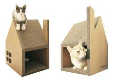 Krabhuis Cardboard Cat House
