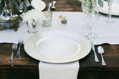 Timeless White Table Setting | Nyk  Cali Wedding Photographers | TheKnot.com