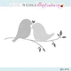 Love Doves Clipart - JW Illustrations