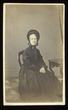 Civil War Era CDV Lady Wearing Bonnet and Glasses by WM. Stroud of Norristown PA. Appears to be dressed in mourning although there is no evidence of a veil, there is a noted absence of white or color and simple trim