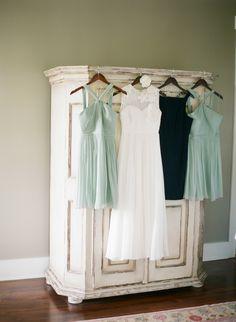 Bridesmaids Dresses in pale aqua