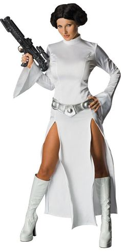 Ladies Princess Leia Womens Costume Rubies Star Wars Fancy Dress Outfit