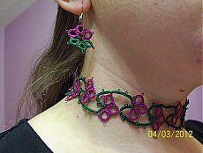 tatted choker set tatted bracelet lace choker lace от MamaTats