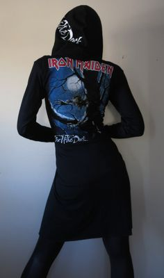 Iron Maiden Fear Of The Dark Studded Robe Hoodie by HellCouture, $140.00