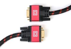 Kumo High Resolution SVGA to SVGA Cable (RED) - 50 FT by Aurum Cables. $24.99. Aurum Cables High quality Certified Cables providing you with clear, crisp and realistic HD picture.   * Enhance your home theater experience * hand crafted Premium Construction * Compatible with HDMI Devices  HDMI combines both audio and video into one convenient cable, so it's all you need to connect your HDTV to your A/V receiver Blu-Ray player, Xbox 360, PlayStation 3, HD Cable Box, P...