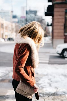 suede jacket fur collar - see anna jane | iron and honey photography