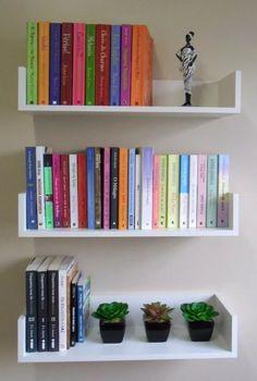 diy bookshelf bookshelf ideas, creative bookshelves, minimalist bookshelves, bookshelf decorating ideas, bookshelf for small spaces Diy Bookshelf Wall, Bookshelves In Bedroom, Decorating Bookshelves, Bookshelf Design, Bookshelf Ideas, Room Design Bedroom, Room Ideas Bedroom, Home Room Design, Bedroom Decor