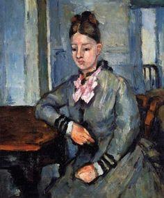 Paul Cézanne - Hortense Fiquet Huile sur toile Collection privée..