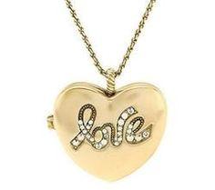 Kirks Folly Love Always Heart Locket and Chain