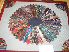 Quilt Patterns Using Mens Ties | karen of quilt luver sent me a photo of another quilt she posted about ...