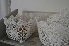 Handmade NL: Brocante mandjes haken DIY