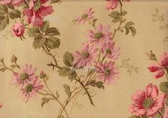 ANTIQUE French hand painted wall paper faded by passionatelyparis, £2.00