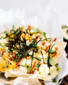 California Roll Nachos Recipe via i am a food blog