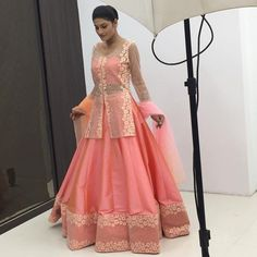 Crushing on this gorgeous Pink Lehenga? Wish it could be yours? Head over to the blog www.frugal2fab.com to know more about the Designer behind this creation