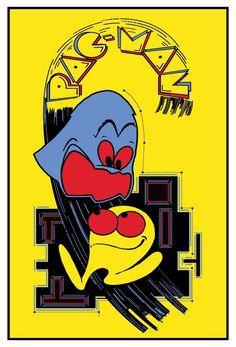 """thevideogameartarchive: """"Time to eat some pills - it's Pac-Man time! Here we have the side artwork for the original arcade version of the game. Pac Man's looking real weird here, doesn't he? Vintage Video Games, Classic Video Games, Retro Video Games, Vintage Games, Video Game Art, Pac Man, Space Invaders, Donkey Kong, Nintendo"""