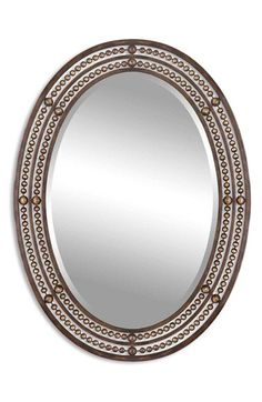 Uttermost 'Matney' Distressed Bronze Oval Wall Mirror available at #Nordstrom