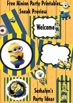 Having a Minion Theme Party? Check out this FREE Minion Party Printable Kit! Let your creativity flow and use the printables to create a fabulous Minion Party for your lil boy! #Minionparty #freeminionprintables