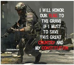 OUR flag.....I'm right behind you soldier. <3