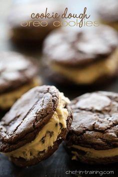Homemade Cookie Dough Oreo Cookies