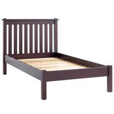 Twin Simple Espresso Bed (Headboard w/Wood Frame) #NodWishlistSweeps