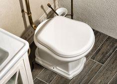 RETRO WC sedátko, polyester, bílá/bronz : SAPHO E-shop Retro, Toilet, Sink, Bathroom, Shopping, Home Decor, Sink Tops, Washroom, Flush Toilet