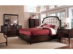 Intrigue Leather Panel Bedroom Set ($4500)