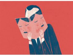 American Illustration 32 by Lorenzo Gritti, via Behance American Illustration, Art Et Illustration, Creative Illustration, Mask Images, Classic Comics, Purple Rain, Negative Space, Looks Cool, New Artists