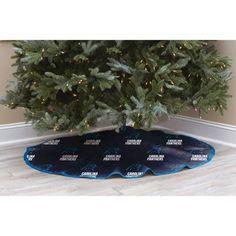 NFL Licensed Logo Christmas Tree Skirt, Carolina Panthers, Multicolor