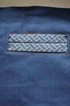 Paspelzak naaien - stap voor stap zelfmaken patroon pattern tutorial