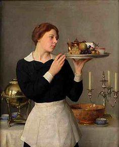 William McGregor Paxton -  The Waitress 1929