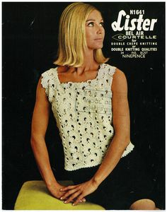 Ladies crochet summer top vintage crochet by AplaceofInterest, £1.49