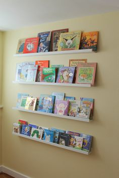 nursery diy book wall  shelves from the picture section of Ikea