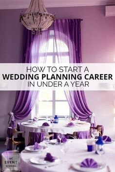 Start your wedding planning career in under a year with our guide, including how to get certified, build your portfolio, and start a business! #QCEventSchool #eventplanning #weddingplanning #becomeaneventplanner #learnonline #careertips #careertraining #careerguide