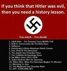 Find the truth about Hitler! Just RESEARCH!