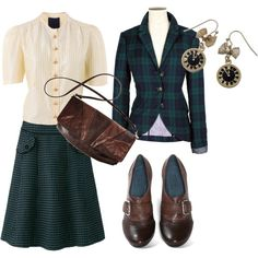 A fashion look from February 2010 featuring PPQ blouses, Jack Wills blazers and Nicole ankle booties. Browse and shop related looks.