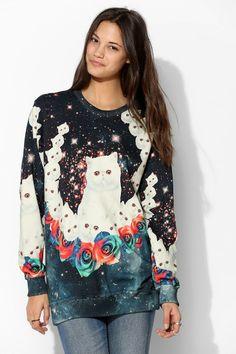 Marilyn inspiration - Aloha From Deer Cat Pullover Sweatshirt
