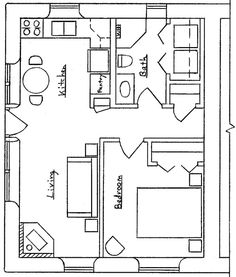 20 39 x20 39 apt floor plan starla model d floor plan 20 x for Garage guest house floor plans