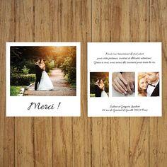 Carte de remerciements Polaroïd pour mariage : Faire-part par crea-graphic