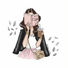 love reading books that your argument is the suspense and finding books or series like that makes it seem like an adventure. Illustration Blume, Illustration Girl, Illustration Fashion, Fashion Wall Art, Fashion Painting, Girl Cartoon, Cartoon Art, Fashion Sketches, Art Sketches