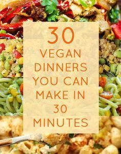 30 schnelle vegane Abendessen