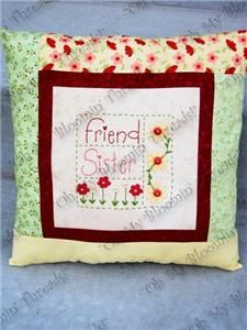 Friend - Sister Embroidery Pattern (A33) Embroidery Patterns by Oh My Bloomin' Threads
