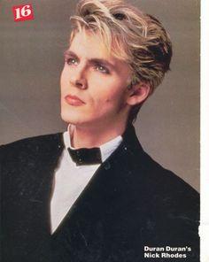Nick Rhodes from band Duran Duran.