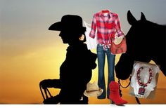 """""""cowgirl up ~ red"""" by cjmiles on Polyvore"""
