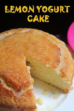 One of my all time favourite cake.I have already shared a version of it before. But i could never get off with the combination of yogurt and lemon. Lemon Recipes, Baking Recipes, Sweet Recipes, Dessert Recipes, Recipes With Yogurt, Healthy Cake Recipes, Desserts With Yogurt, Healthy Lemon Desserts, Baking With Yogurt